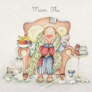 Get Well Soon - MAN Flu Card - Get Well CARD - Man FLU Greeting Card - GET Well Card for GRANDDAD - Dad GET Well CARD - CARING Get Well CARD