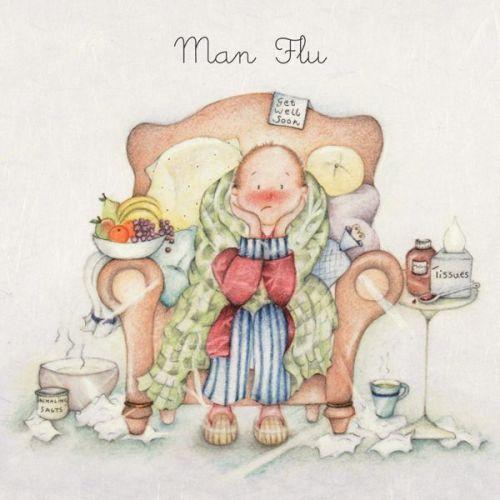 Get Well Soon - MAN Flu Card - Get Well CARD - Man FLU Greeting Card - GET