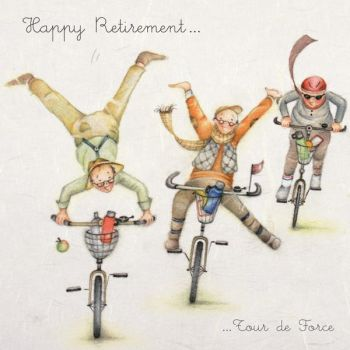 Retirement Cards - HAPPY RETIREMENT - Funny RETIREMENT Cards - Retirement CARDS for TEACHER -  Male RETIREMENT - GRANDDAD - Friend - BICYCLE Lover