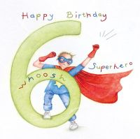 6th Birthday Card Boy - SUPERHERO Birthday CARD - Happy Birthday - SUPERHERO CARD - CARD For SON - Grandson - GODSON