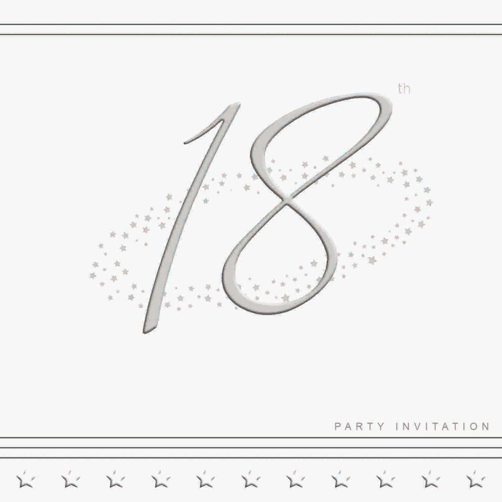 18th Silver Foil Birthday Party Invitation Cards 5pk - LUXURY INVITES - PAR