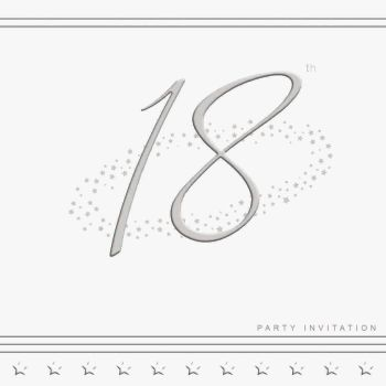 18th Silver Foil Birthday Party Invitation Cards 5pk - LUXURY INVITES - PARTY Invitations - PACK of 18th Party INVITATIONS - Party INVITES