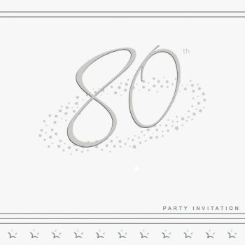 80th Silver Foil Birthday Party Invitation Cards 5pk - LUXURY INVITES - PARTY Invitations - PACK of 80th Party INVITATIONS - Party INVITES