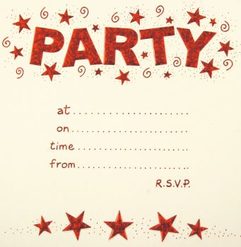 PARTY Invitations - Rainbow Foil Birthday Party Invitation Cards 10pk – PARTY Invitations With MATCHING Envelopes - ADULT Birthday INVITES - Birthday