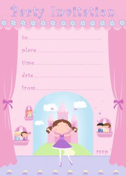 Ballerina Party Invitations – BALLERINA Birthday INVITATIONS Pack Of 20 - BALLERINA Invites - Ballerina Birthday PARTY - KIDS Party INVITATIONS