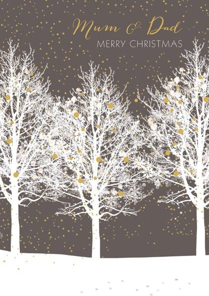 Mum & Dad Christmas Cards - MERRY Christmas - CHRISTMAS Cards For PARENTS -
