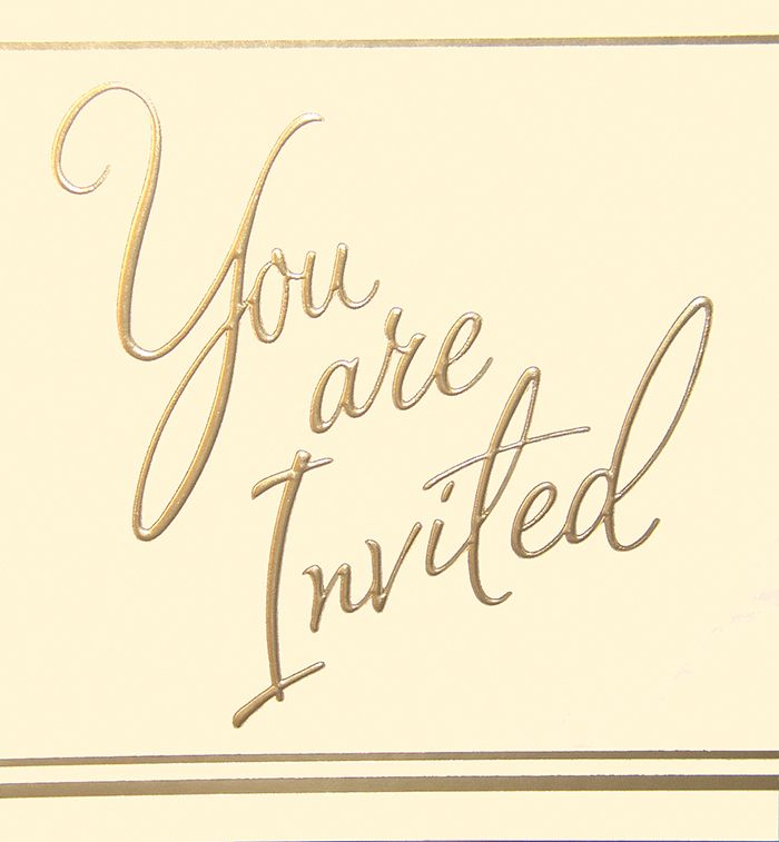 Gold Foil Party Invitations 5pk - LUXURY Cards INVITES - Party INVITATIONS