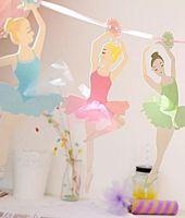 Ballerina Garland - Party DECORATIONS - Birthday BALLERINA Bunting - GIRLS BALLERINA Bunting - BALLET - Ballerina - ROOM Decoration - BALLET Banner