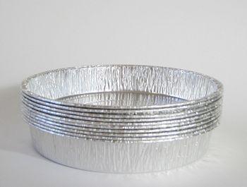 "10 Foil Flan Dishes 15cm - 6"" Aluminium Foil DISH - ROUND baking DISH"