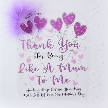 Like A Mum Mother's Day Card - THANK You For BEING Like A MUM - Large LUXURY BOXED Mother's DAY Card