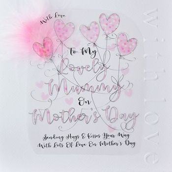 Mother's Day Card - With LOVE To MY Lovely MUMMY - Large LUXURY BOXED Mother's DAY Card