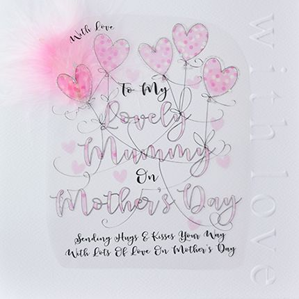 Large Mothers Day Card - TO My LOVELY MUMMY - HAND Embellished Mothers DAY