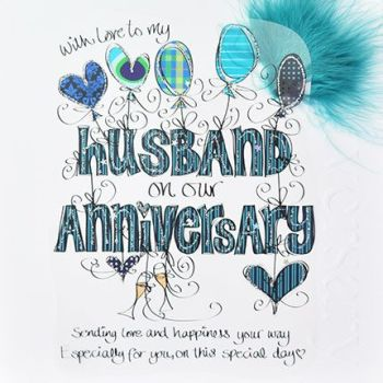 Anniversary Cards For Husband  - UNIQUE Anniversary CARDS - WITH Love TO My HUSBAND - LUXURY Boxed WEDDING Anniversary CARD - Wedding ANNIVERSARY Card