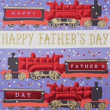Steam Train Fathers Day Card - Happy FATHERS DAY - Trains - STEAM Train CARD - Father's DAY CARD