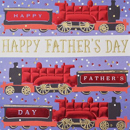 Fathers Day Cards - Fathers Day TRAIN Cards - Happy FATHERS DAY - Trains -