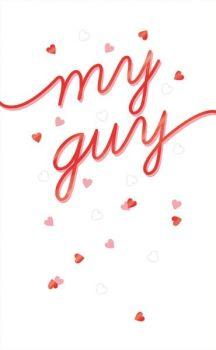 Boyfriend Valentine's Card - MY GUY - Red FOIL Valentines CARD - My Guy VALENTINE'S Card For HUSBAND - Cute VALENTINE'S  Card