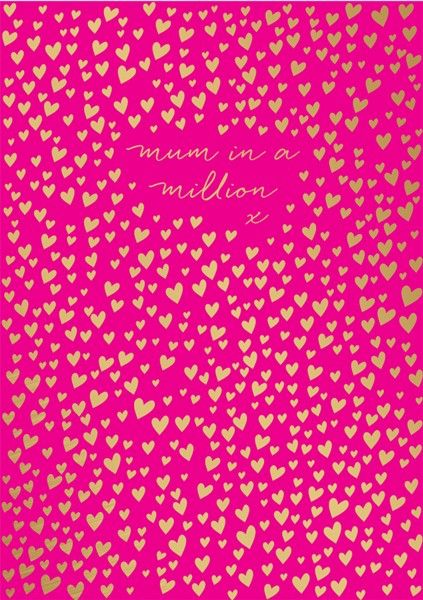 Mum In A Million Mother's Day Card - MOTHERS Day Cards - Pretty MOTHER'S Da