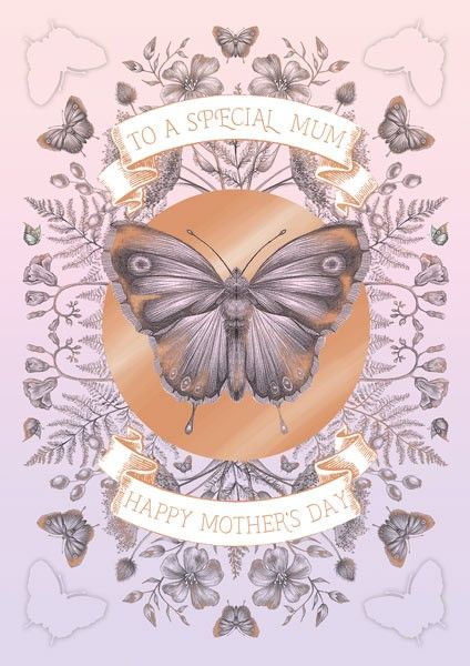 Special Mum Mother's Day Card - HAPPY Mother's DAY - MOTHER'S Day Cards - B