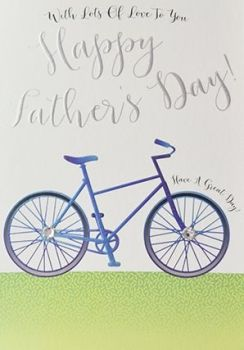 Fathers Day Card - CYCLING - BIKE Ride - HAVE a GREAT Day - BIKE Card for DAD