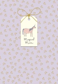 Mother's Day Unicorn Card - MAGICAL Mum - MOTHERING Sunday CARD - HAND Finished with BOW