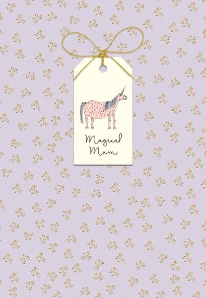 Magical Mum - MOTHERS Day Card - Mother's DAY Card WITH Tag ATTACHMENT - UN