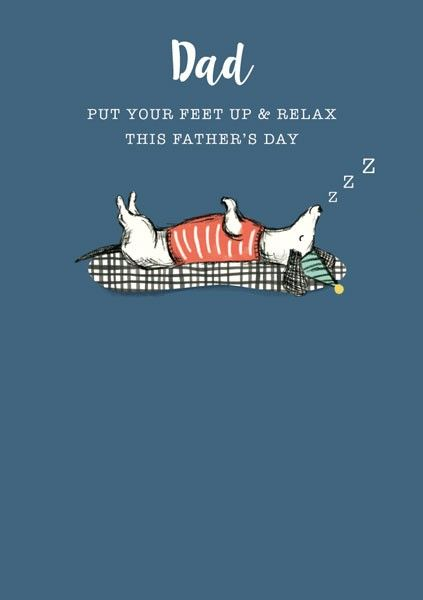Fathers Day Card - DAD Fathers DAY Card - PUT Your FEET Up & RELAX - FUNNY