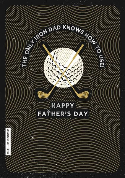Fathers Day Cards - GOLF Father's DAY Card - HAPPY Fathers DAY - Funny FATH