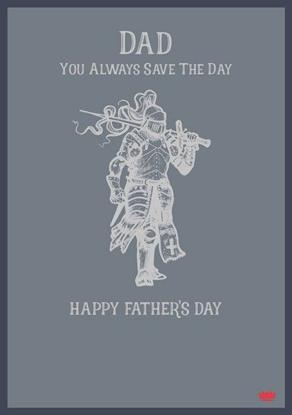 Fathers Day Card - DAD Father's DAY Card - YOU Always SAVE The DAY - HAPPY