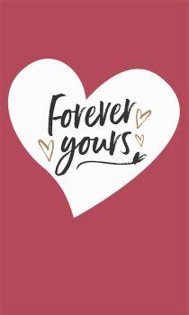 Valentine's Cards - FOREVER Yours - LOVE Heart VALENTINE Card - ROMANTIC Valentine's Card - VALENTINE'S Card For PARTNER - Boyfriend - HUSBAND