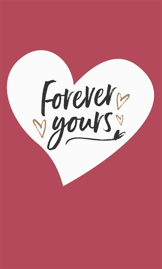 Valentine's Cards - FOREVER Yours - LOVE Heart VALENTINE Card - ROMANTIC Va