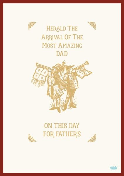 Fathers Day Cards - HERALD The ARRIVAL Of The Most AMAZING DAD - Funny FATH