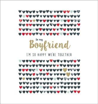 Boyfriend Valentine's Card - To My BOYFRIEND - So Happy WE'RE Together - VALENTINE'S Card For BOYFRIEND - Valentine's CARDS