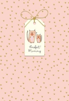 Purrfect Mummy Mother's Day Card - CAT Mother's DAY CARD - MOTHERING Sunday CARD - HAND Finished with BOW