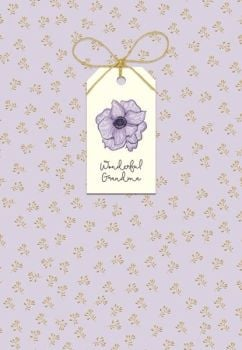 Wonderful Grandma - MOTHERS Day Card For GRANDMA - Mother's DAY Card WITH Tag ATTACHMENT - FLOWER Bouquet - MOTHERING Sunday CARD - HAND Finished