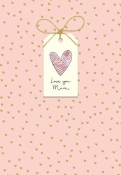 Love You Mum - Mother's Day Card - HEART Mother's DAY CARD - MOTHERING Sunday CARD - HAND Finished with BOW