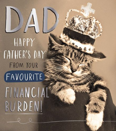 Funny Father's Day Cards - FROM Your Favourite FINANCIAL Burden - CAT Fathe