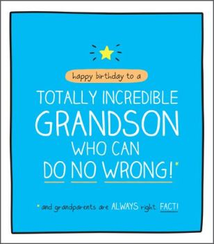 Birthday Card For GRANDSON - Who Can DO No WRONG - Funny GRANDSON Birthday Card -  BIRTHDAY Greeting CARD - Humorous Card FOR Grandson