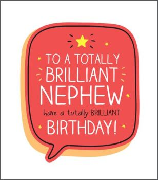 Birthday Card For NEPHEW - Totally BRILLIANT Nephew - NEPHEW Birthday Card - BIRTHDAY Greeting CARD - BRILLIANT Birthday Card FOR Nephew