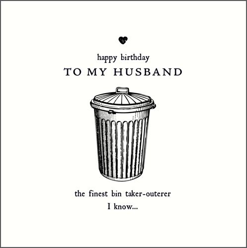 Birthday Card for HUSBAND - To MY HUSBAND - Funny HUSBAND Birthday CARD - B