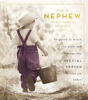 Birthday Card for NEPHEW - So PROUD to WATCH you GROW - ACHIEVEMENT Card - Inspirational BIRTHDAY Card for NEPHEW - Nephew BIRTHDAY Card