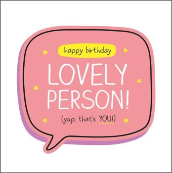Birthday Card - SPECIAL Person BIRTHDAY Card - HAPPY Birthday Lovely Person - YUP That's YOU - BIRTHDAY Card For FRIEND - Birthday WISHES For FRIEND
