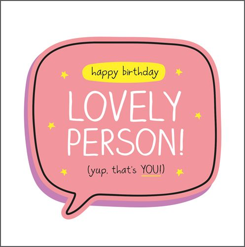 Birthday Cards - SPECIAL Person BIRTHDAY Card - HAPPY Birthday Lovely Perso