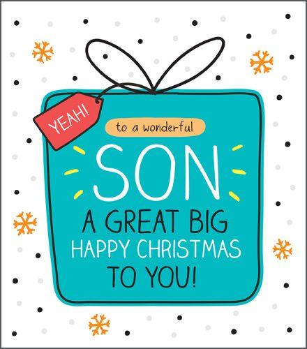 Wonderful Son Christmas Card - A GREAT Big Happy CHRISTMAS To YOU - Christm