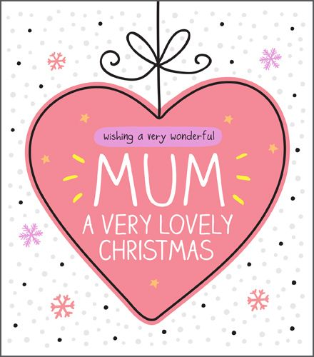 Mum Christmas Cards - WISHING A Very WONDERFUL Mum A Very LOVELY CHRISTMAS