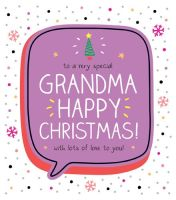 Very Special Grandma Christmas Card - HAPPY Christmas WITH Lots Of LOVE To YOU - Grandma CHRISTMAS Cards - Special CARDS - CHRISTMAS Cards For GRANDMA