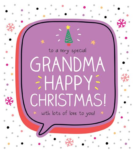 Very Special Grandma Christmas Card - HAPPY Christmas WITH Lots Of LOVE To