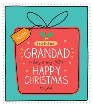 Brilliant Grandad Christmas Card - A VERY Very HAPPY Christmas To YOU - Grandad CHRISTMAS Cards - GRANDAD Card - CHRISTMAS Cards For GRANDPARENTS
