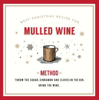 Mulled Wine Christmas Card - THROW The CLOVES In The BIN - FUNNY Alcohol CHRISTMAS Card - Drinking CHRISTMAS Card - Christmas CARDS - Mulled WINE Card