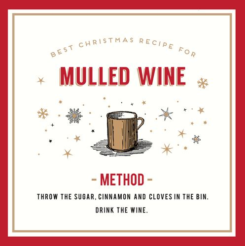 Mulled Wine Christmas Card - THROW The CLOVES In The BIN - FUNNY Alcohol CH