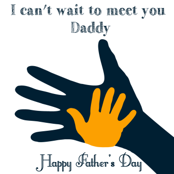 Fathers Day Card - FATHERS Day CARD From The BUMP - I CAN'T Wait To MEET You DADDY - 1st Father's DAY Card - HANDMADE Fathers DAY Card - DADDY CARD